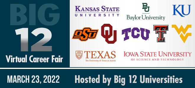 Big 12 Virtual Career Fair Banner