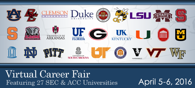 SEC & ACC Virtual Career Fair - 2016 Banner
