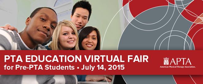 PTA Education Virtual Fair - Hosted by APTA Banner