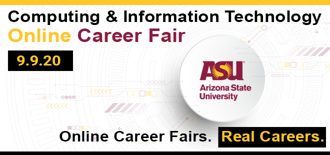 ASU-Fulton Computing & Information Technology Online Career Fair Banner