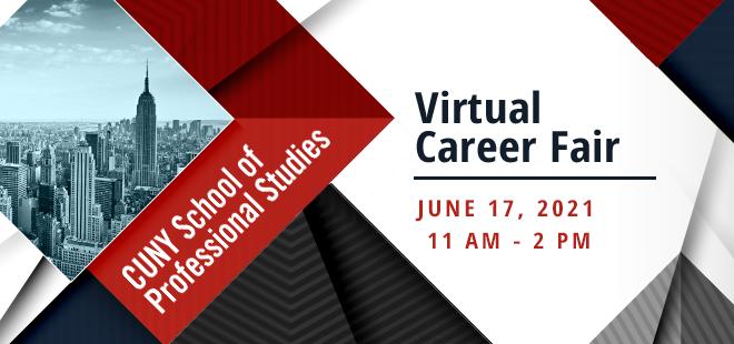 CUNY School of Professional Studies Virtual Career Fair Banner