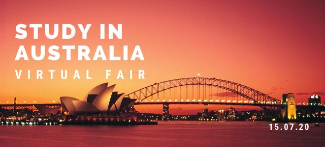 Study in Australia Virtual Fair  Banner