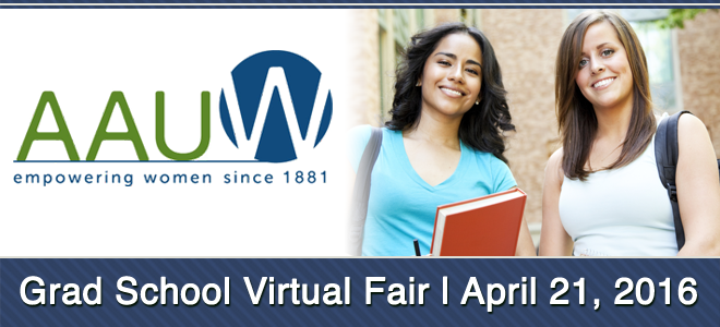 AAUW Virtual Grad School Fair Banner