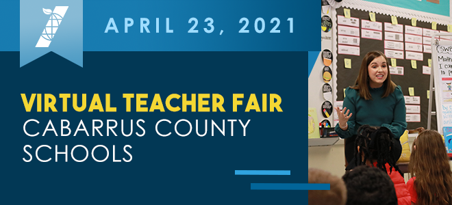 Cabarrus County Schools Virtual Teacher Fair Banner