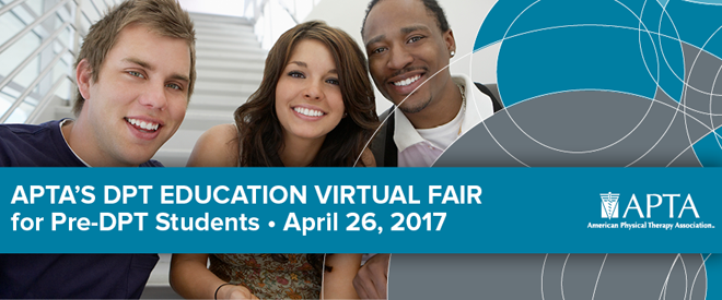 DPT Education Virtual Fair - Hosted by APTA - April 2017 Banner