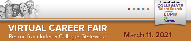 State of Indiana Collegiate Talent Search Virtual Career Fair Banner