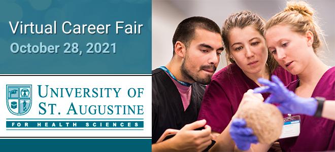 University of St. Augustine Virtual Career Fair Banner