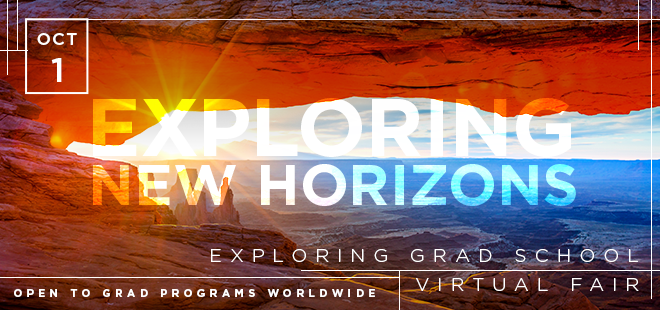 Exploring Grad School Virtual Fair Banner