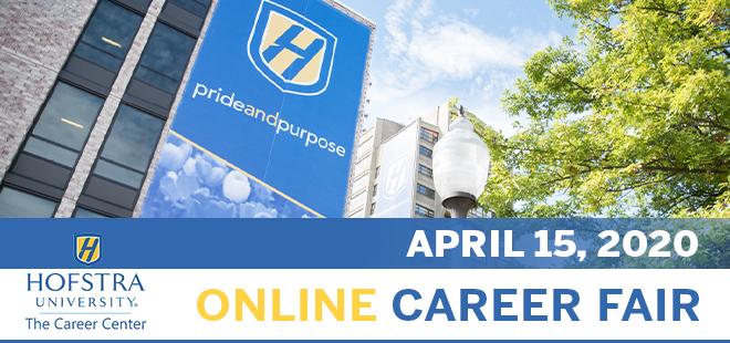 Hofstra University Online Career Fair Banner
