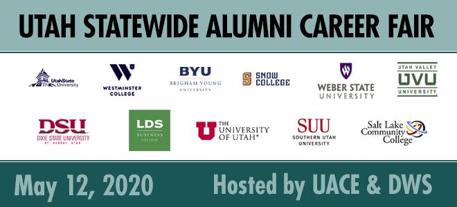 Virtual Utah Statewide Alumni Career Fair Banner
