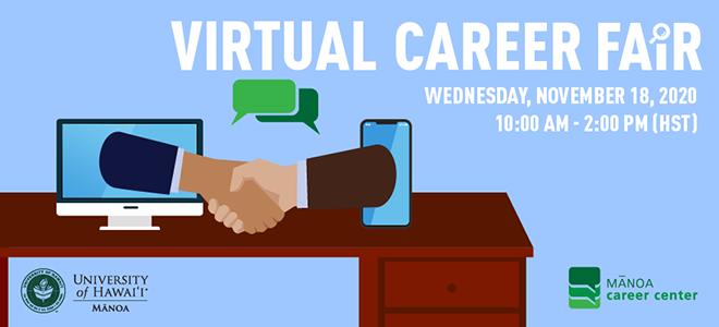 University of Hawaii at Manoa Virtual Career Fair Banner