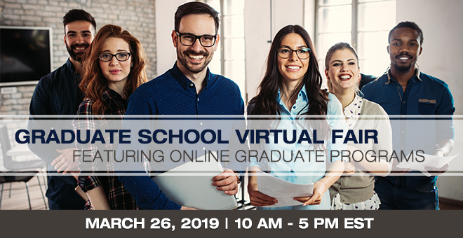 Virtual Fair for Online Graduate Programs Banner