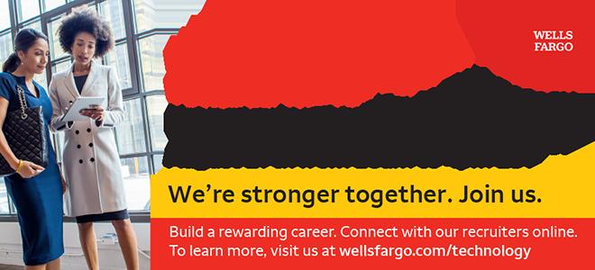 Wells Fargo Women in Technology Virtual Career Fair Banner