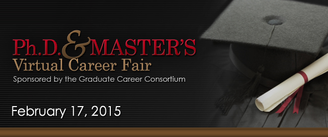 Ph.D. & Master's Virtual Career Fair - 2015 Banner