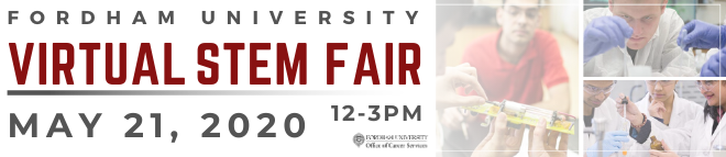 Fordham University Virtual STEM Fair Banner
