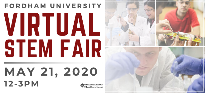 Fordham University Virtual STEM Fair Banner