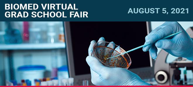 Biomed Virtual Grad School Fair Banner