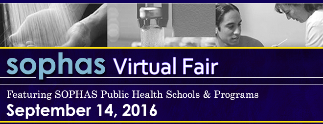 SOPHAS Virtual Fair - Sept. 2016 Banner