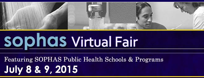SOPHAS Virtual Fair - July 8 & 9 2015 Banner