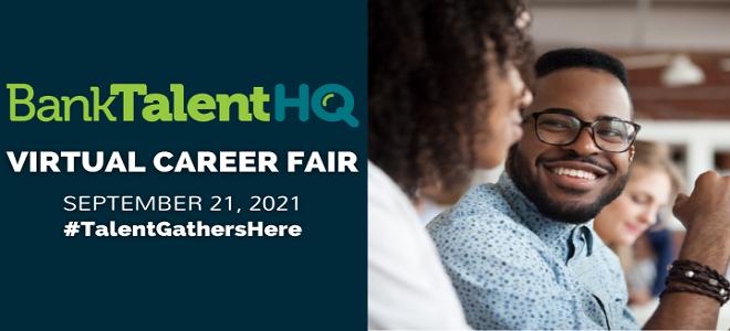 BankTalentHQ Virtual Career Fair  Banner