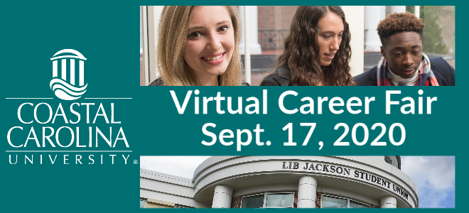 Coastal Carolina University Virtual Career Fair Banner