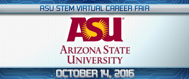 ASU STEM Virtual Career Fair Banner