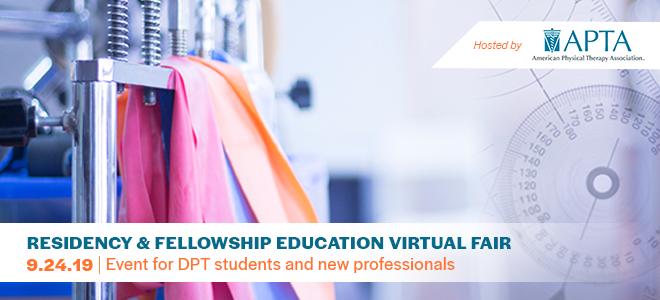 DPT Residency & Fellowship Education Virtual Fair Banner