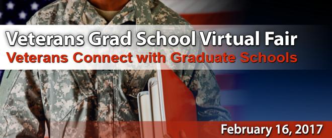 Grad School Virtual Fair for Veterans - Yellow Ribbon Programs - February 2017 Banner