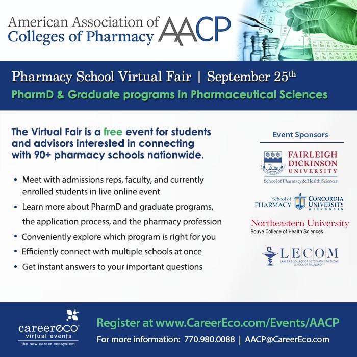 Pharmacy School Virtual Fair - September 25, 2019