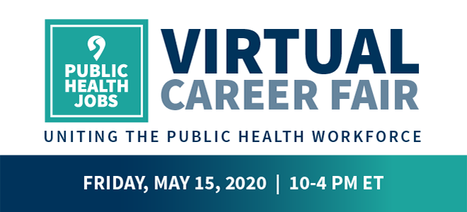 PublicHealthJobs.org: Virtual Career Fair  Banner