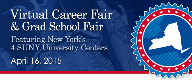 Virtual Fair, featuring New York's 4 SUNY University Centers - April 2015 Banner