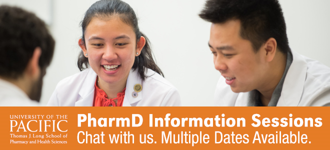 University of the Pacific PharmD Information Sessions Banner