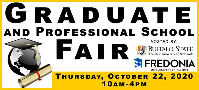 SUNY Buffalo State & SUNY Fredonia Graduate & Professional School Virtual Fair Banner