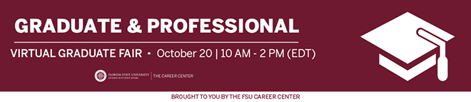 Florida State University Graduate and Professional School Virtual Fair  Banner
