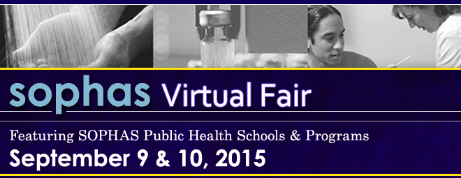 SOPHAS Virtual Fair - Sept. 2015 Banner