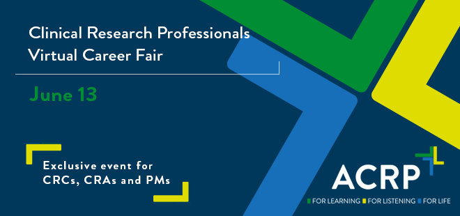 Clinical Research Virtual Career Fair  Banner