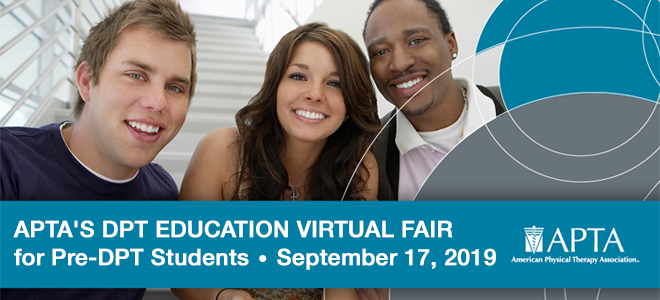 DPT Education Virtual Fair - Hosted by APTA Banner