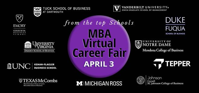 MBA Virtual Career Fair Banner