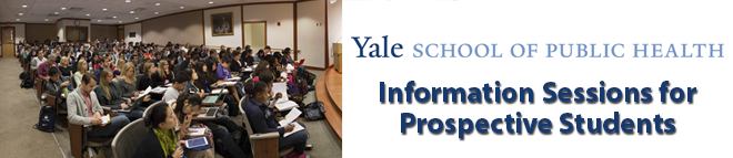 Yale School of Public Health Prospective Student Chats Banner