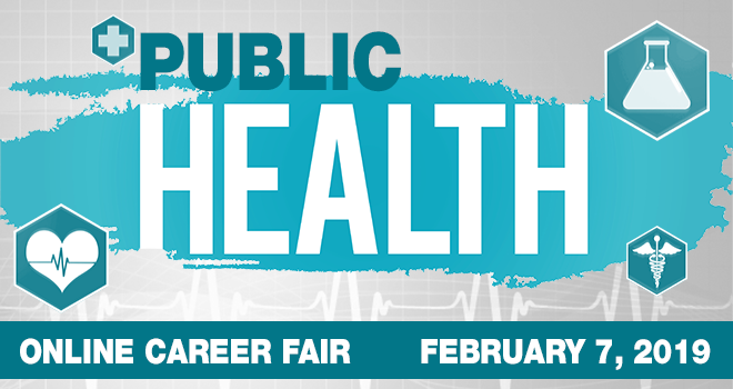 Public Health Online Career Fair Banner