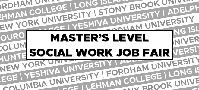 2021 Master's Level Social Work Job Fair Banner