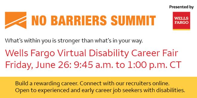 Wells Fargo Virtual Disability Career Fair Banner
