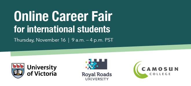 Online Career Fair for International Students Banner
