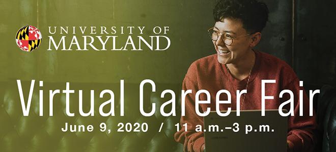 University of Maryland Virtual Career Fair Banner