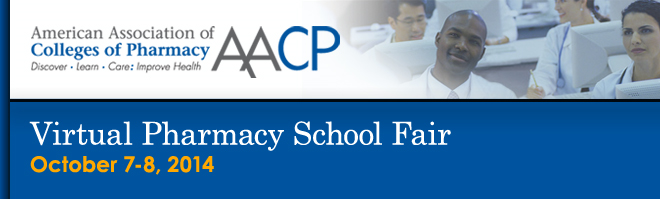Virtual Pharmacy School Fair - October 7 & 8, 2014 Banner