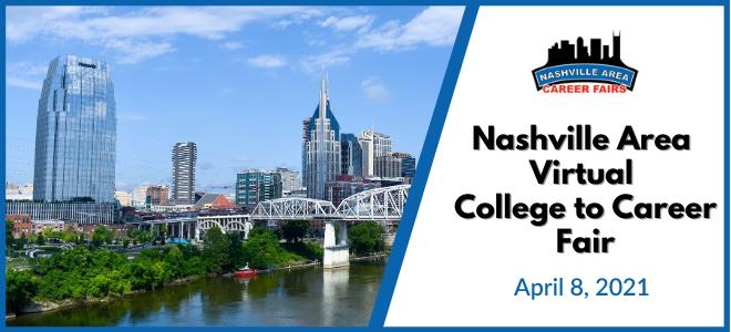 Nashville Area Career Fair Consortium: 2021 College to Career Fair Banner