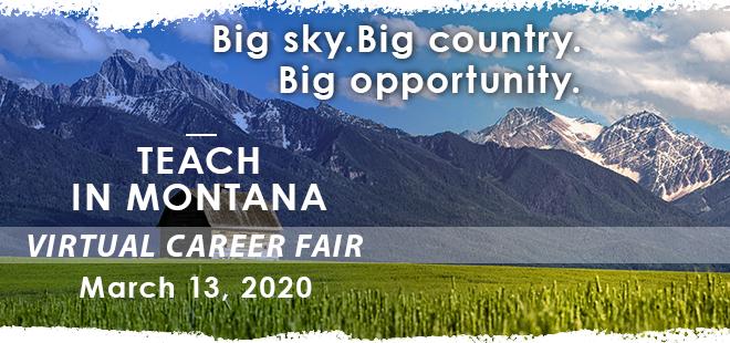 Montana Teacher Virtual Career Fair Banner