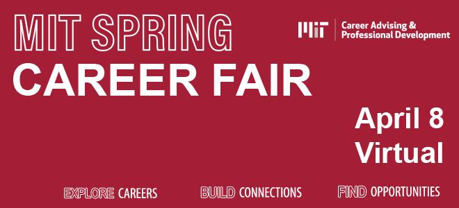 MIT Spring Virtual Career Fair Banner