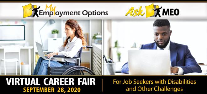 My Employment Options Virtual Career Fair Banner