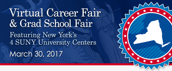 Virtual Fair, featuring New York's 4 SUNY University Centers - March 2017 Banner